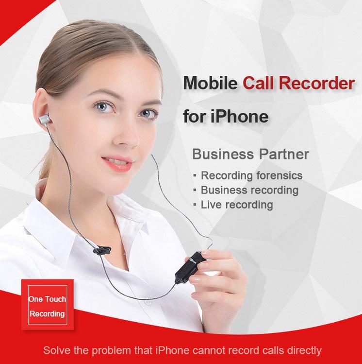 Kuulee inalámbrico Bluetooth grabadora de llamadas auricular para iPhone Android teléfono móvil