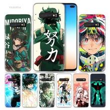 My Hero Academia etui do Samsung Galaxy S20 Plus S8 S9 S10 5G S10e S7 uwaga 8 9 10 J4 J6 2018 silikonowe Anime etui na telefony Cas