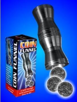 Coin FUN-Nel (Funnel) - Magic Tricks,Magic For Children,Classic Magic,Stage Magic,Illusions,Toys,Gimmick
