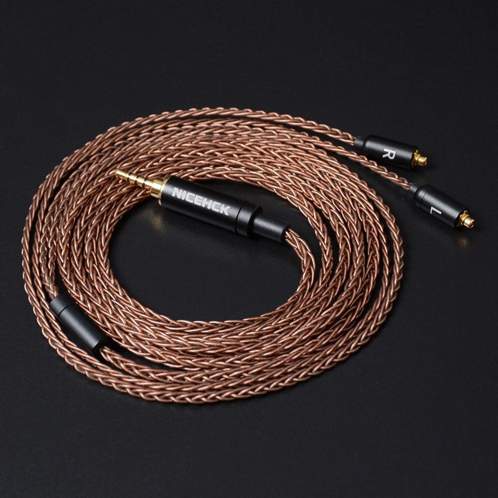 NiceHCK 8 النواة 6N GC-OCC SingleCrystal الكابلات النحاسية MMCX/2Pin 3.5/2.5/4.4 مللي متر متوازنة ل LZ A7 ST10S NiceHCK NX7 MK3/M6/EBX/F3