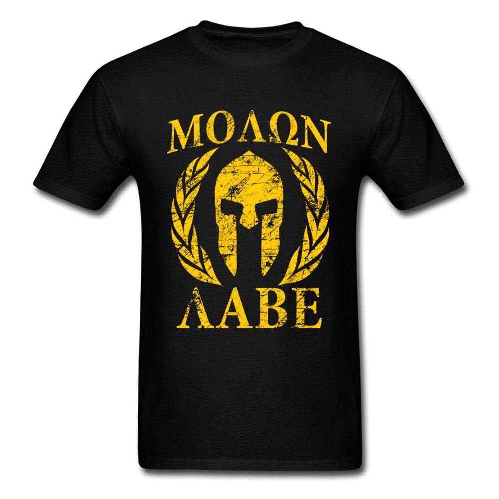 Мужская Винтажная Футболка Momon Labe Spartan, черная и желтая футболка с круглым вырезом, хлопковая футболка