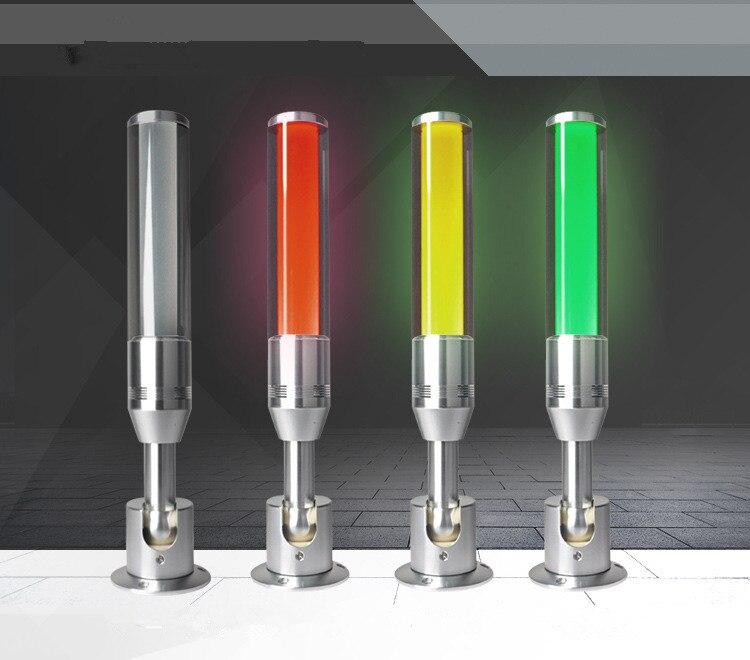 Nueva lámpara indicadora Led de tres colores, 3 colores en 1 capa, lámpara de advertencia para máquina, zumbador de señal para Taller, alarma de 24 V, luz de sonido de precaución