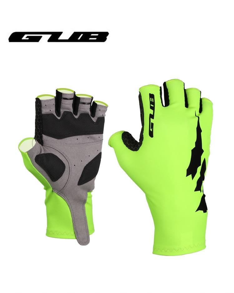 GUB 030 Cycling Half Finger Gloves Breaking Wind Anti-slip Bicycle Mittens Racing Road Bike Glove MTB Biciclet Guantes Green