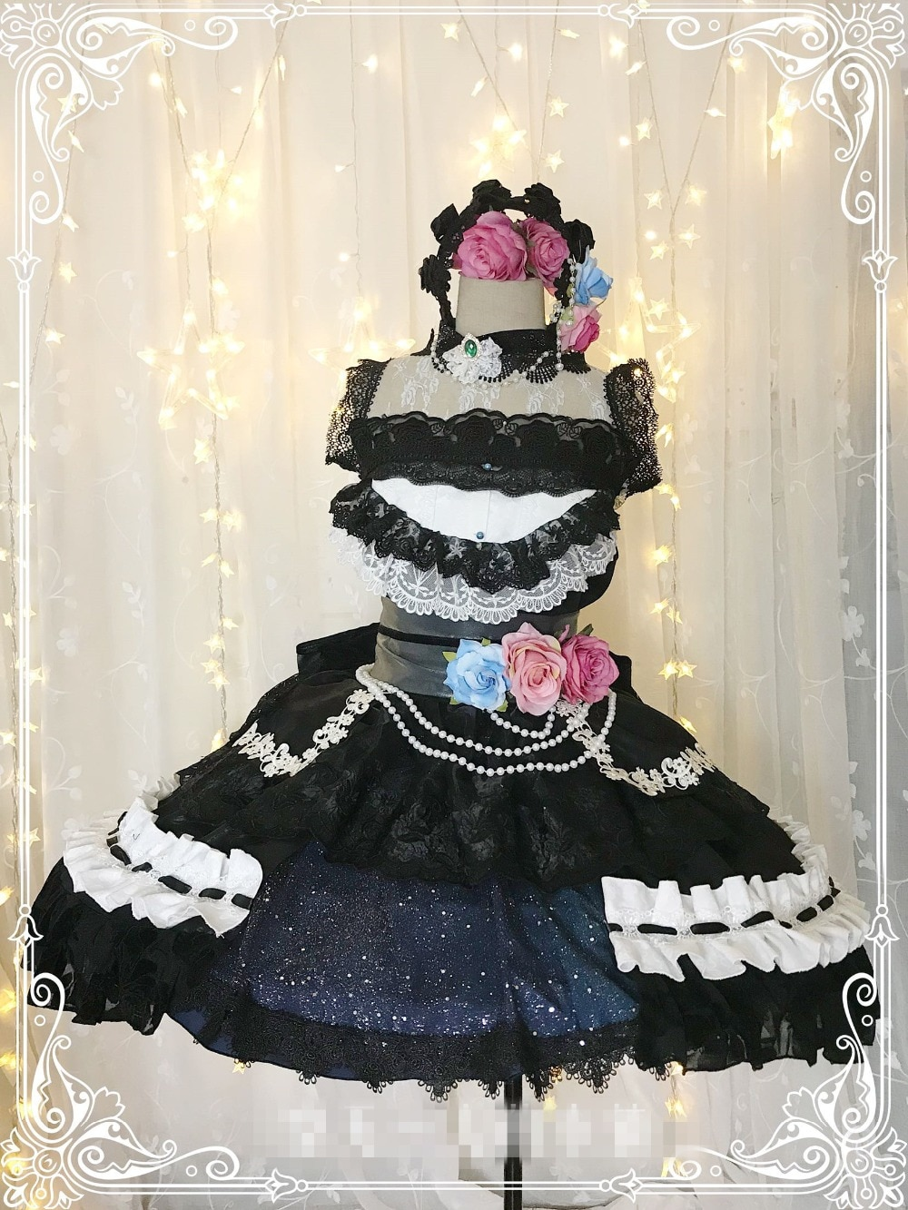 BanG rêve Cosplay robe en dentelle femme halloween belle robe cadeau personnalisé