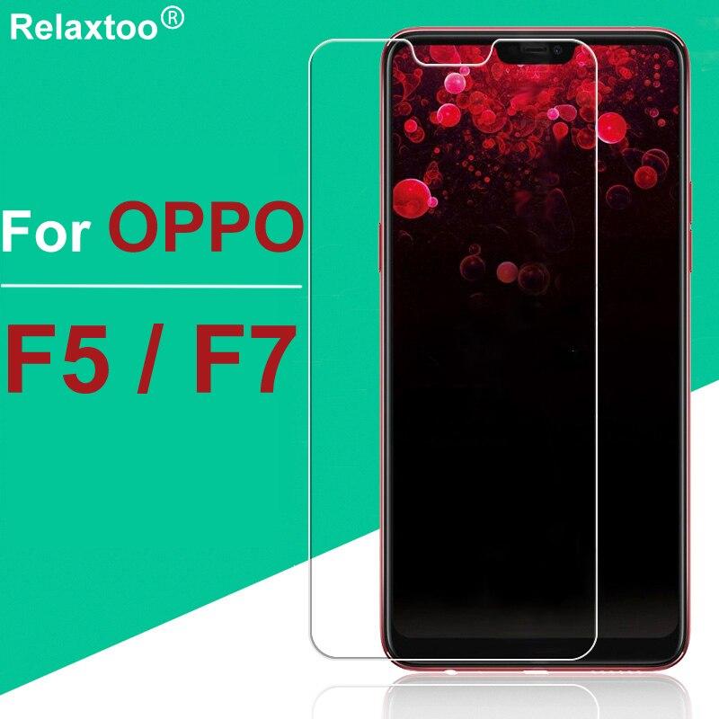 Para oppo f7 vidrio templado f5 5f 7f f 5 7 oppo f5 oppo f7 en vidrio protector de pantalla película de protección tremp 9h