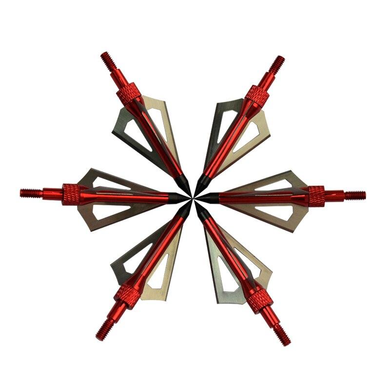12 pçs 100 grão vermelho broadhead 3 lâminas besta caça ajuste seta parafuso de carbono cabeça seta arco e flecha frete grátis