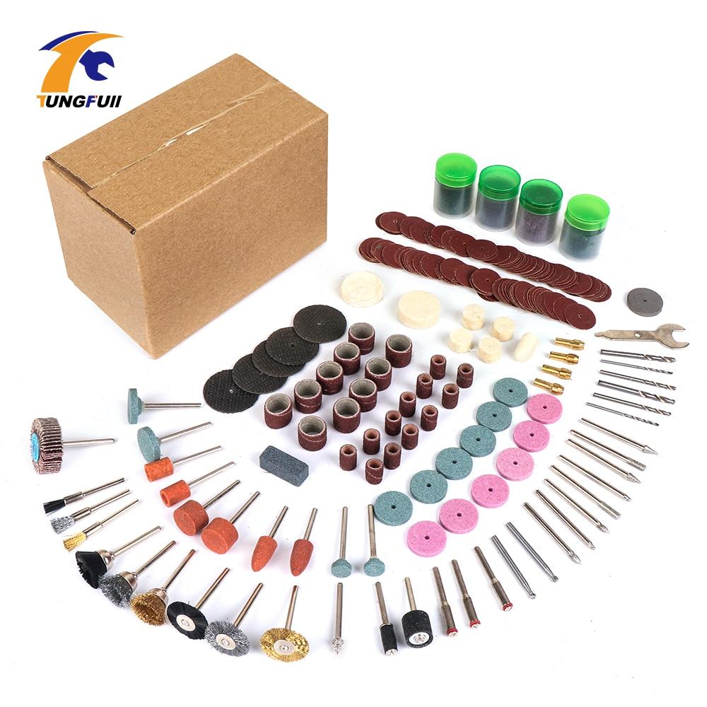 Tungfull 361pcs/lot Power Tools Dremel Rotary Tool Accessory Set Fits for Dremel Drill Grinding Polishing Dremel Accessories