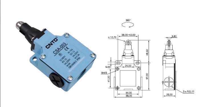 Top Quality Original CNTD pçs/lote 4 CSA-003 Limit Switch/Micro Switch Ui 380V Ith 10A