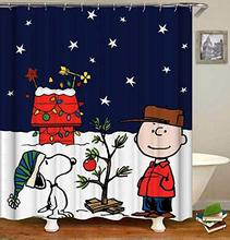Douche de rideaux   Ensemble de salle de bain, noël avec Charlie Brown
