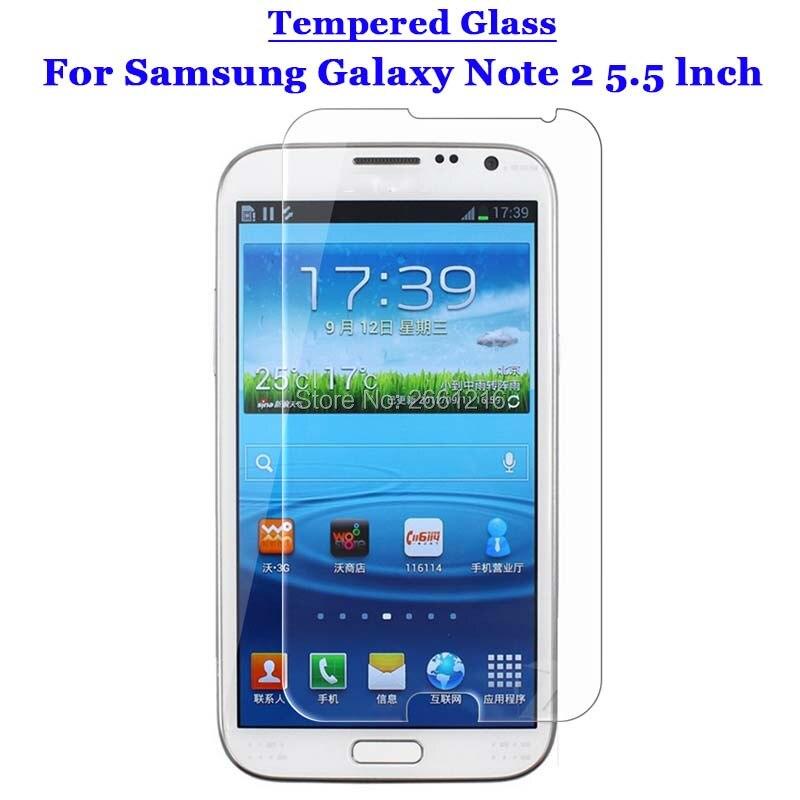 Para Samsung Note2 vidrio templado 9H 2.5D protector de pantalla Premium película...