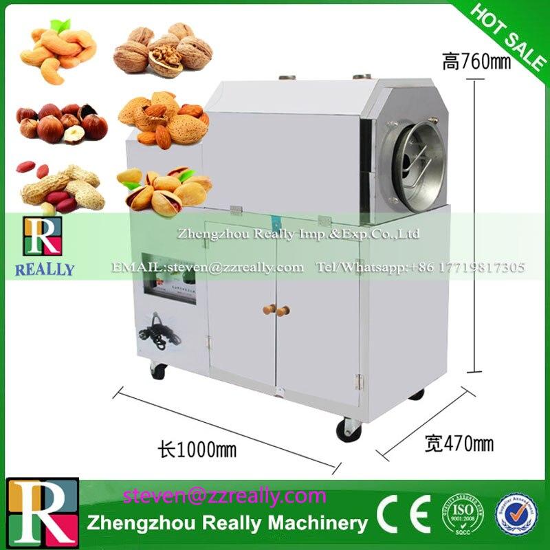 Máquina para asar semillas de melón, castaña de cacahuete tipo Gas/tostador de granos de café