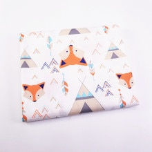 100% Cotton Twill Fabric Printed Fox Cotton Patchwork Cloth For Textile Material Bed Sheet Soft Clot