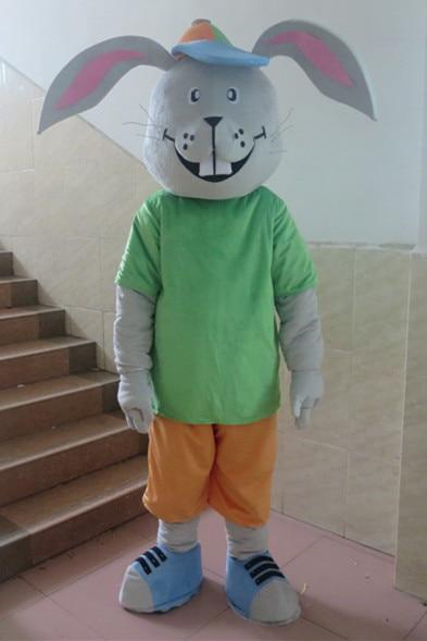 Mais recente de alta qualidade coelho coelhos Da Páscoa mascot costume Fancy Dress adult size frete grátis