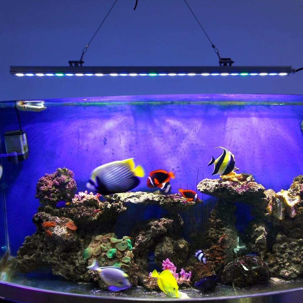 85cm Waterproof Aquarium Light Marine Coral Reef Led Strip Lamp Nicrew Fish Tank Decor Lighting Aquatic Plant Growth Bar Light