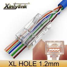 Xintylink EZ rj45 stecker cat6 ethernet kabel stecker cat5e utp 8P8C netzwerk rg45 katze 6 unshielded cat5 jack keystone 50/ 100 stücke