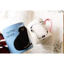 Tasse céramique café lait thé   Support Mobile pour téléphone, tasses à café lait tasse de thé mignon chat tasse Couple tasses de boisson pour enfants, offre spéciale 2 pièces