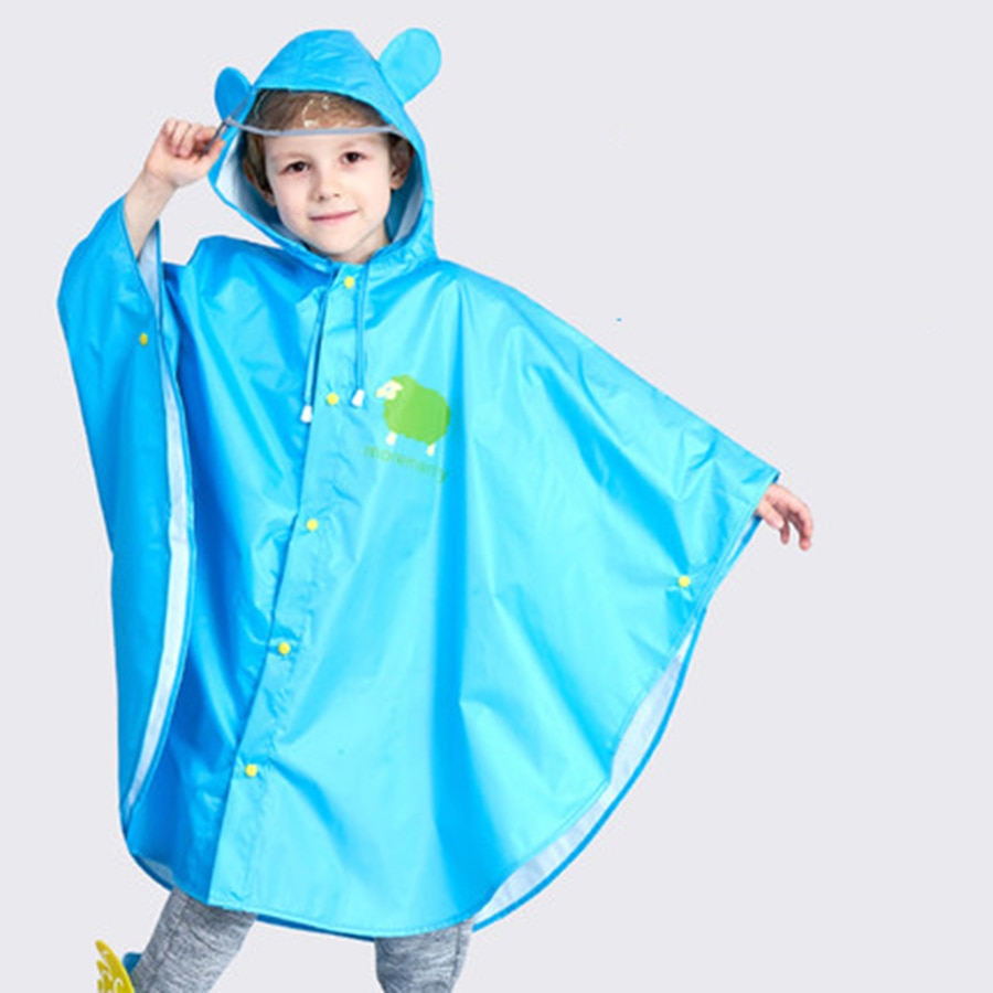 Chubasquero para niños Poncho para niños con capucha abrigo de lluvia largo de talla grande casaco infantil menina accesorios de decoración del hogar 40YY0050