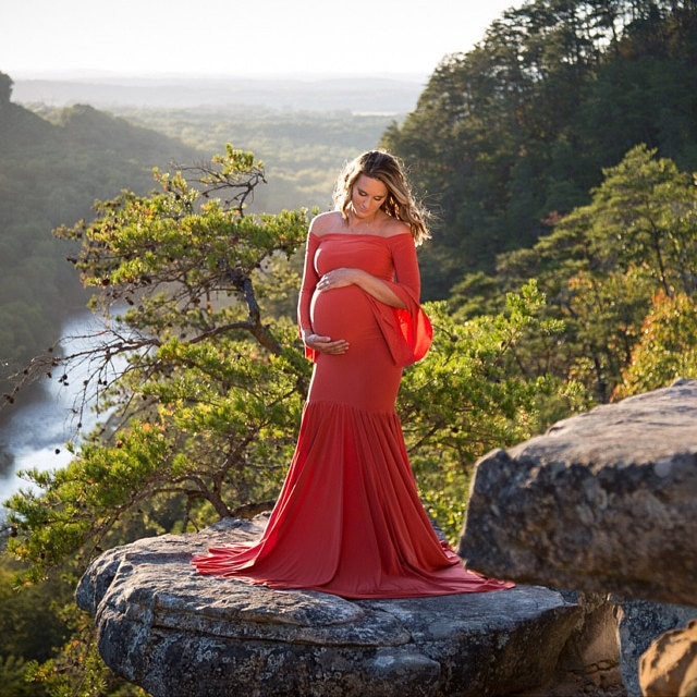 New Style Maternity photography props maxi gown Cotton Dress Fancy Photo Shoot pregnant clothing Romantic elegant dress enlarge