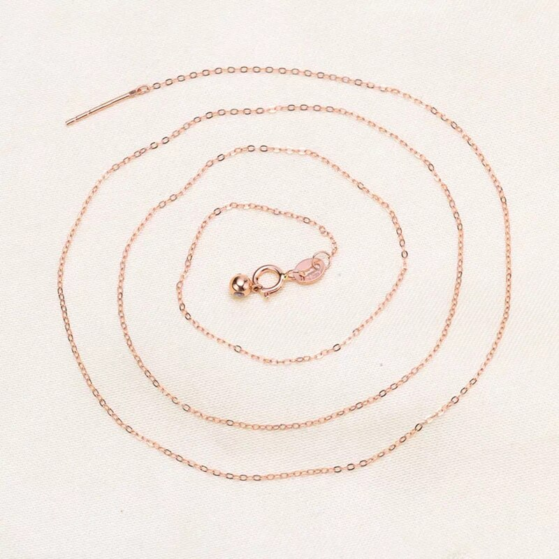 Sinya 18k Classical AU750 Pure Gold Universal Chain about 0.9gram Adjustable Fashion DIY Jewelry Necklace Best Gift For Women