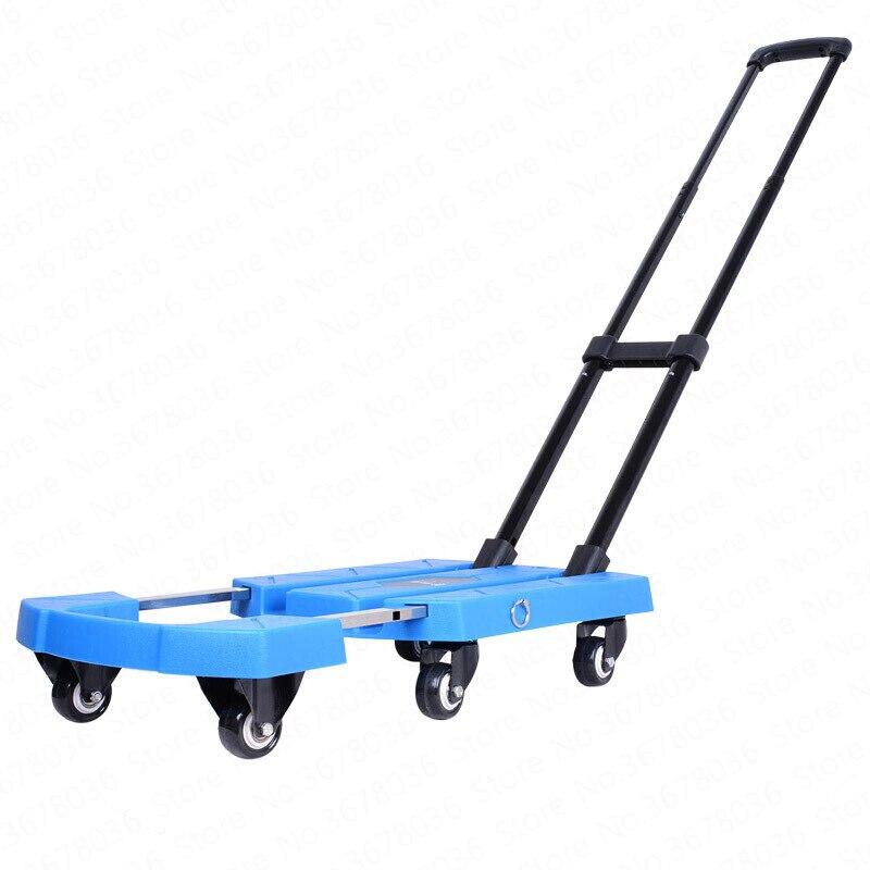 Carrito de equipaje para el hogar, remolque de Mano portátil, pequeño, Plegable,...
