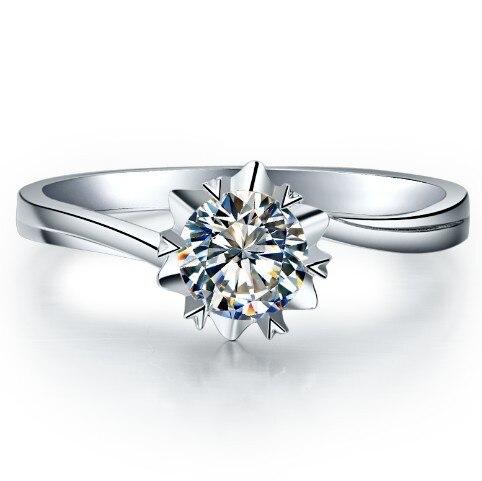 خاتم خطوبة مرصع بالألماس وذهب أبيض وبلاتين للنساء ، خاتم ، خطوبة ، 0.5 قيراط ، VVS1 ، لامع ، Forever