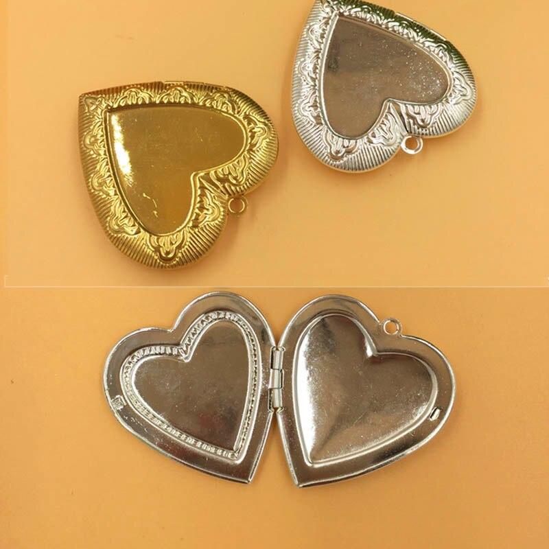 1 ud. Colgante en forma de corazón con marco para fotos de amigos para Diy joyería de moda hecha a mano Collar Romántico hallazgos