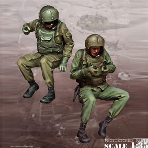 1/35 Vietnam soldado Artilheiro cena Militar combinação kit resina GK tema Militar da SEGUNDA GUERRA MUNDIAL soldados Não Revestido Sem cor