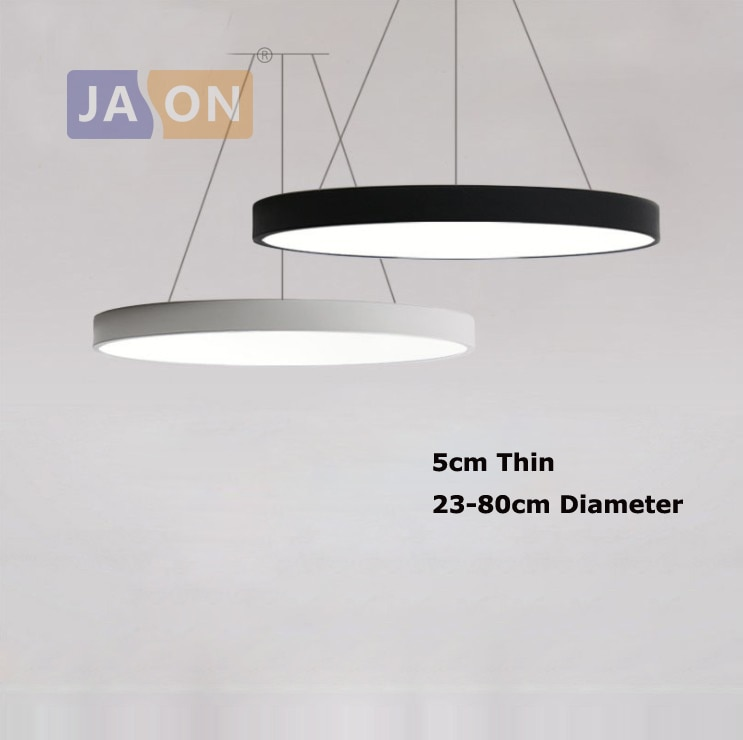 LED الحديثة الاكريليك الحديد الجولة 5 سنتيمتر سوبر رقيقة LED مصباح مصباح ليد. قلادة أضواء. قلادة مصباح. قلادة ضوء لغرفة الطعام بهو
