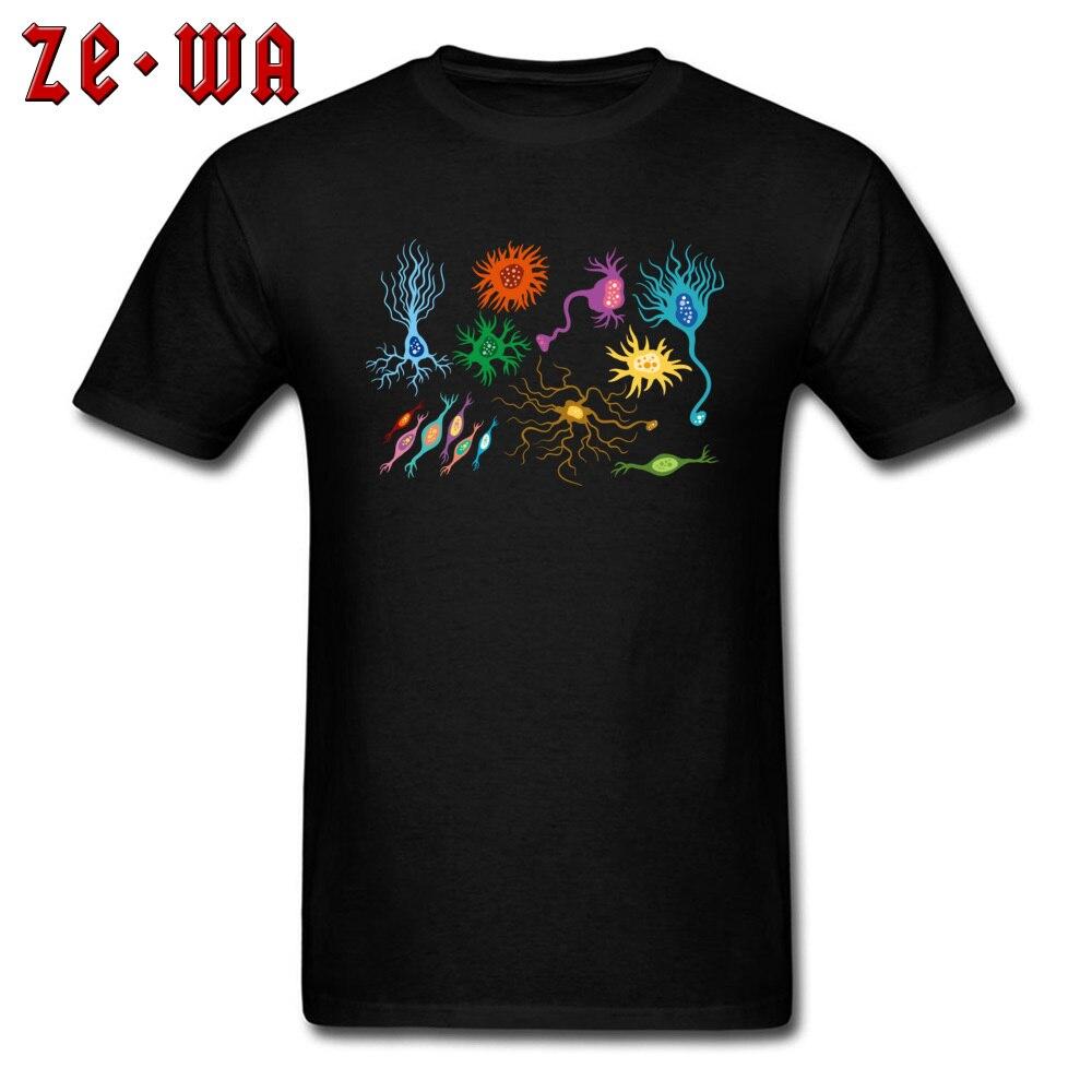 Camiseta para hombre, camiseta colorida de red Neural humana, camisetas de manga corta y cuello redondo, ropa 100% de algodón, venta al por mayor