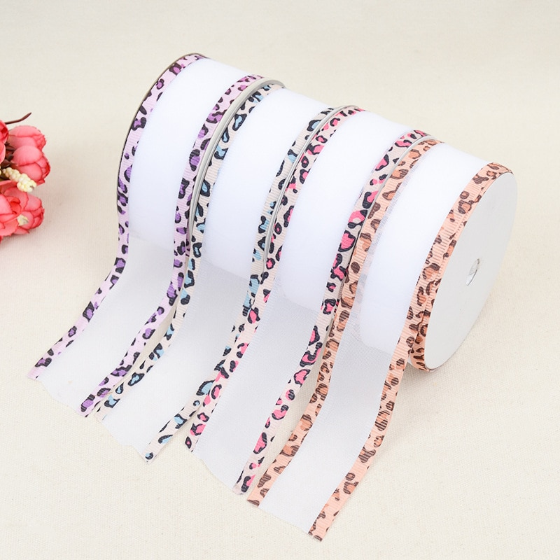 Cinturón de cinta en relieve ropa clásica accesorios de decoración del hogar poliéster hilo de leopardo de doble cara con bandas de borde artesanal