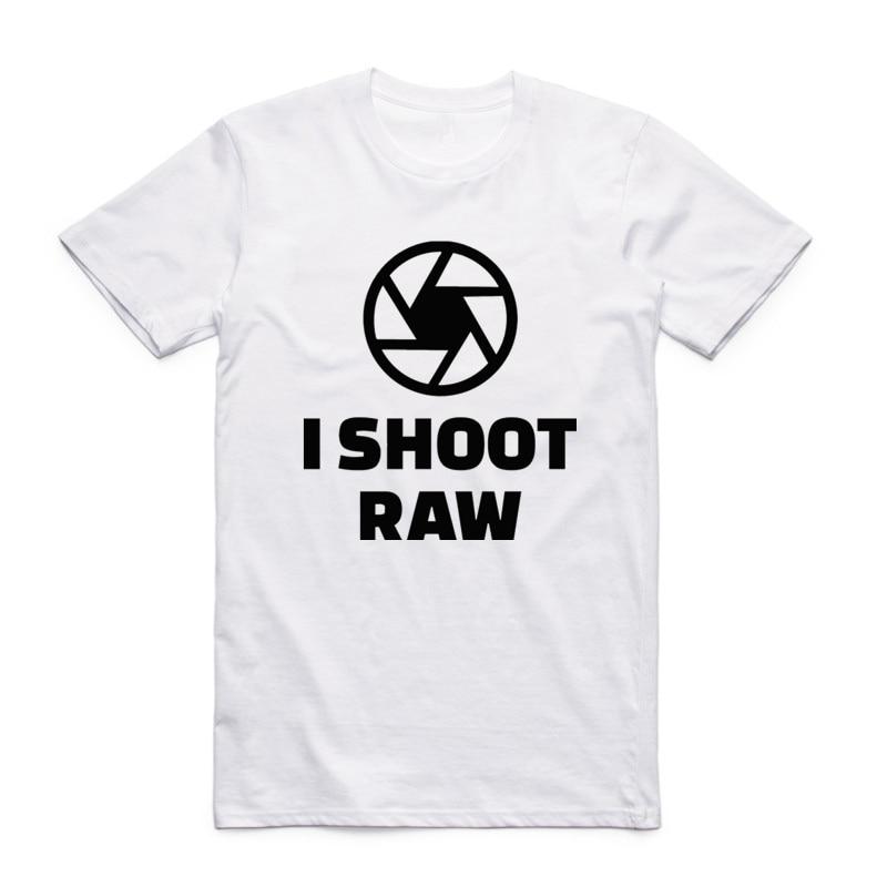 Camiseta estampada I Shoot Raw de talla asiática para hombres y mujeres, camiseta divertida de manga corta con cuello redondo, camiseta de verano para Regalo Casual, HCP4026