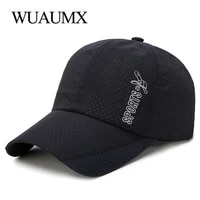 wuaumx unisex baseball caps men summer hat women travel climbing riding sports cap quick drying breathable hats casquette homme