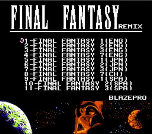FINAL FANTASY I, II, III, VII REMIX, 11in1 משחק מחסנית עבור NES קונסולה