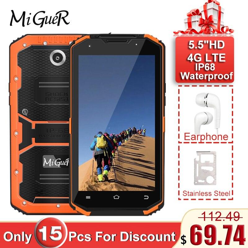 Фото MiGueR A8 IP68 водонепроницаемый мобильный телефон MTK6735 2 Гб ОЗУ 16 ПЗУ 5 &quotбольшой экран