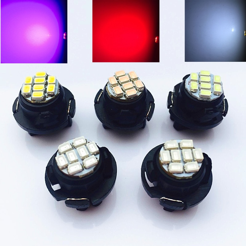 10 Uds Auto Car T10 T6.5 8SMD 1206 Chip LED tablero medidor Panel LED bombilla blanca/rojo/azul/Verde/amarillo/azul hielo # CA4760