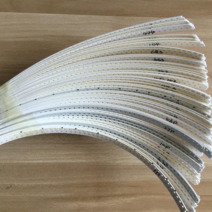 Condensador de cerámica SMD 0603 Kit surtido 1pF ~ 10uF 50value * 50 Uds = 2500 Uds condensador de cerámica de la viruta muestras ki