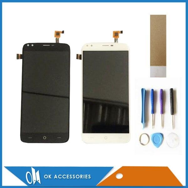 Preto cor branca para doogee x30 display lcd + tela de toque digitador assembléia substituição com ferramentas fita 1 pc/lote
