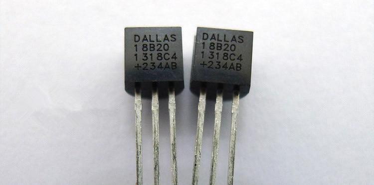 50 unids/lote D DS18B20 18B20 18S20 a 92 CHIP Sensor de temperatura IC