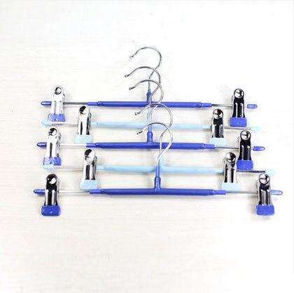 [شحن مجاني] عالية الجودة PVC المغلفة الفولاذ المقاوم للصدأ المعادن السراويل الشماعات/لونين المعادن تنورة شماعات (10 أجزاء/وحدة)