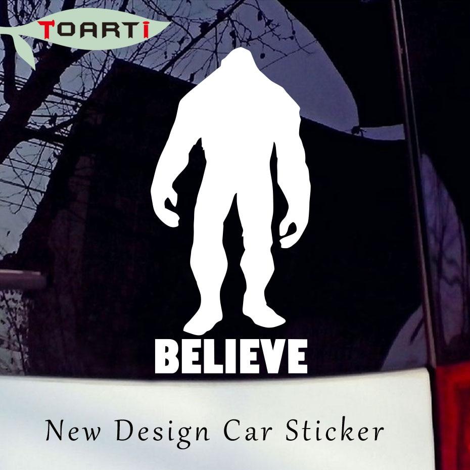 Diseño de coche Big Gorilla Believe vinilo pegatina ventana parachoques de pared Tailstock fantástico accesorios de decoración a prueba de agua
