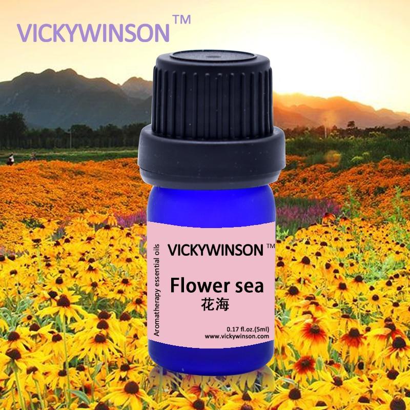 VICKYWINSON Flower sea oil Beauty Makeups Flower Essential Oil- Improve immunity /Eliminate odor/hel