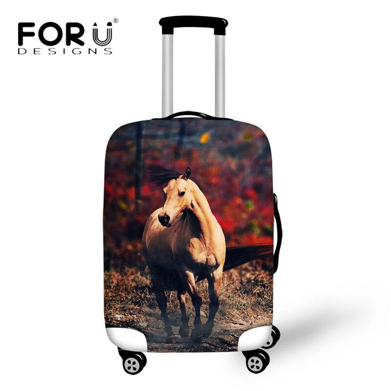 "FORUDESIGNS funda protectora para equipaje con diseño de caballo 3D en carretera de 18 a 30"" para bolsas"