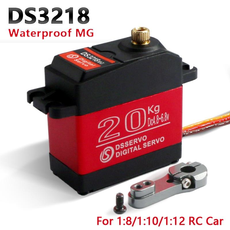 1X étanche rc servo DS3218 mise à jour et PRO haute vitesse en métal engrenage numérique servo baja servo 20KG/.09S pour 1/8 1/10 voitures RC échelle