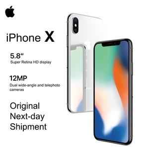 Смартфон Apple iPhone X, 5,8 дюйма, OLED, 4G LTE, 12 МП, Bluetooth, IOS 11, водозащита IP67
