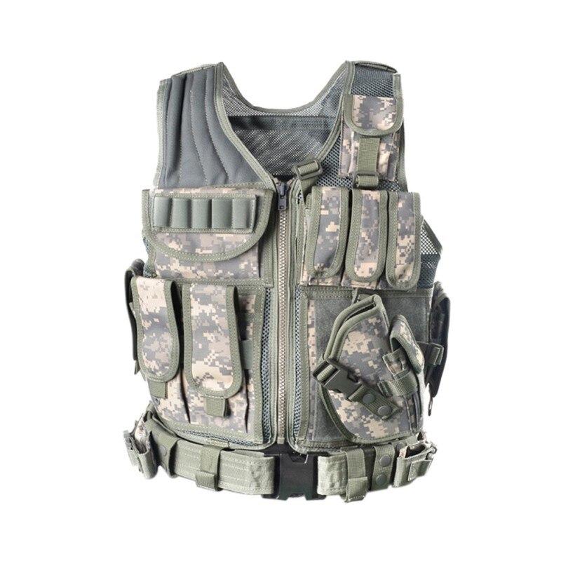 Cool chaleco táctico Allaperto camuflaje militar cuerpo armadura Abbigliamento deportivo Caccia deportes al aire libre