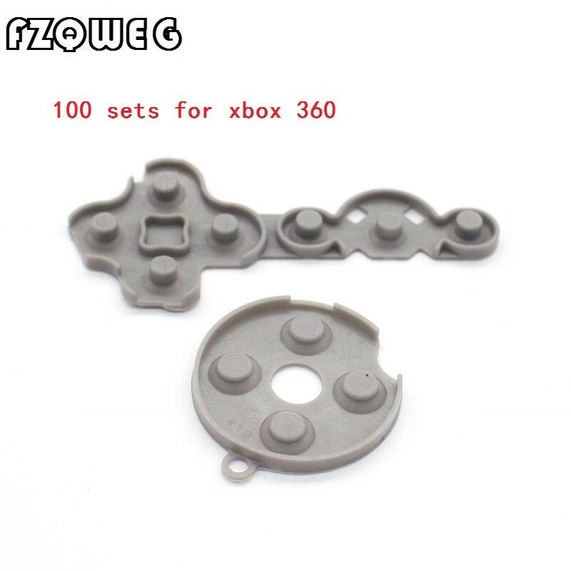 FZQWEG 50 s Controlador Condutora de Borracha Contato Pad Botão D-Pad para Microsoft para Xbox 360 Peças do Controlador sem fio
