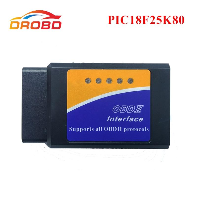 Auto Scanner OBD2 ELM327 V1.5 PIC18F25K80 Chip Diagnostic-tool Mini ELM327 V 1.5 Bluetooth 3.0 for Android Code Reader