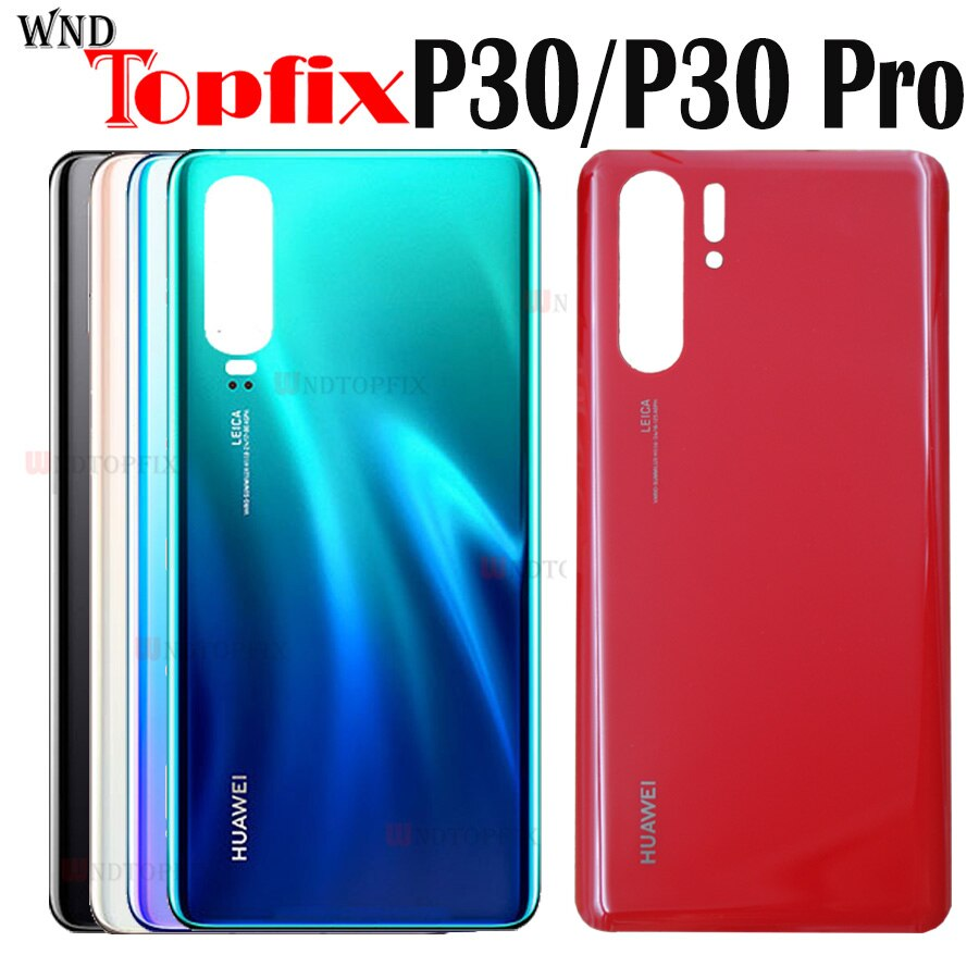 For Huawei P30 ELE-L09 L29 Back Battery Cover Rear Glass Door Housing Case For Huawei P30 Pro VOG-L0