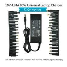19 v 4.74a 90 w universal portátil adaptador de alimentação carregador para lenovo asus acer dell hp samsung toshiba portátil com 32 conectores