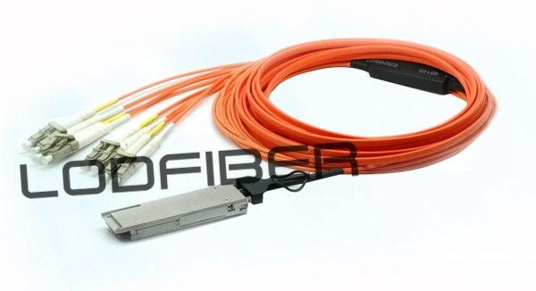 15 m (49ft) QSFP-8LC-D-AOC-15M Compatible 40G QSFP + a 4 LC dúplex fuga activo Cable óptico